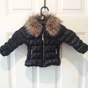 Juicy couture 12 month fur lined jacket